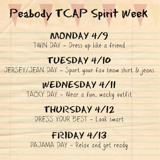 Peabody Spirit Week